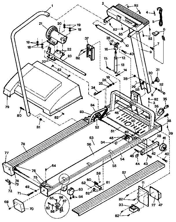 Lifestyler model 831297033 treadmill genuine parts