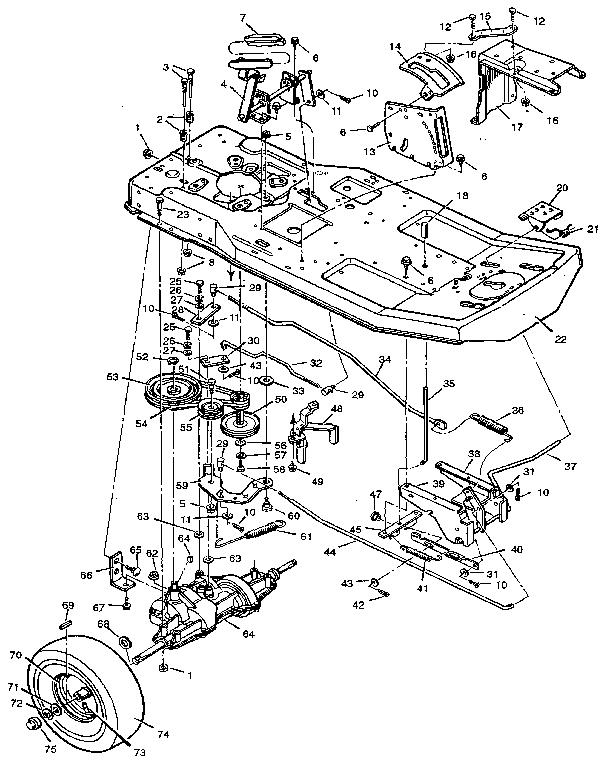 Craftsman model 502255070 lawn, riding mower rear engine