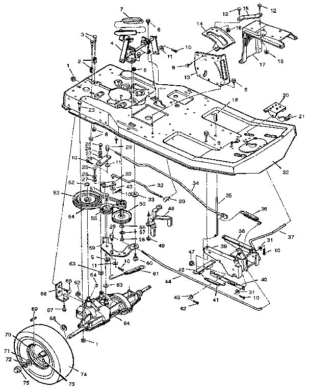 Craftsman model 502255071 lawn, tractor genuine parts