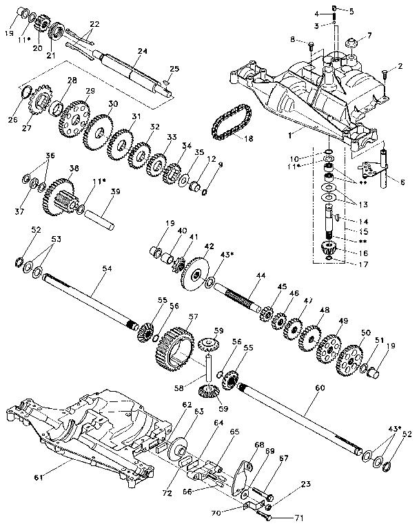 Footedana model 4360-48 transaxle/transmission, tractor