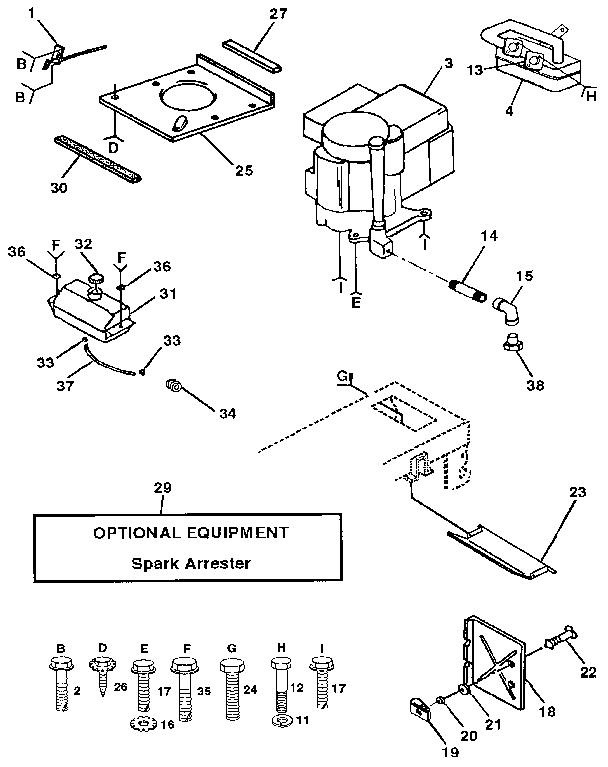 Craftsman model 917255430 lawn, tractor genuine parts
