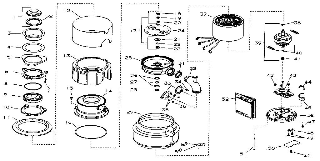 Kenmore model 17560510A garbage disposal genuine parts