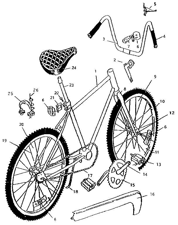 Huffy model 23622 bicycles genuine parts