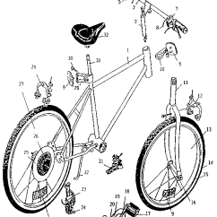 Bike Parts Diagram Rotary Dial Telephone Wiring Huffy Model 14601 Bicycles Genuine Unit