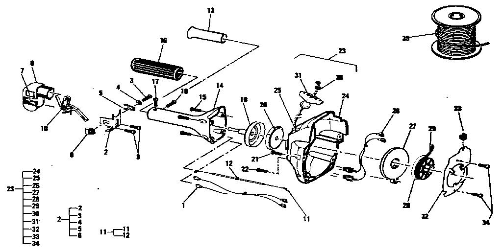 Mcculloch model SILVER EAGLE 32BC-11400132-14 line