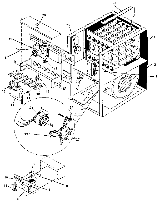 Icp model NUG5100BHA2 furnaces/heaters genuine parts