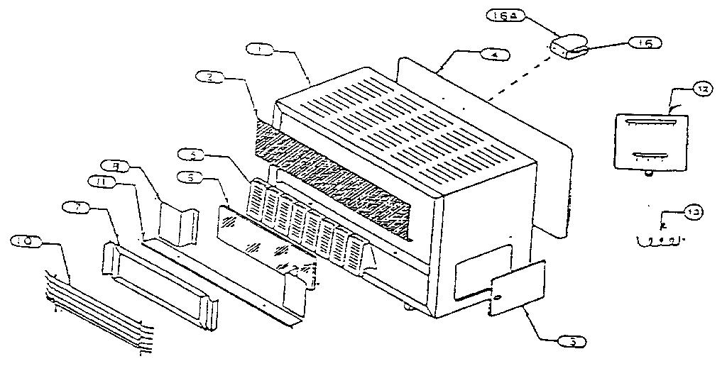 Schwank model WVRC270CSEN/L space heaters/wall unit