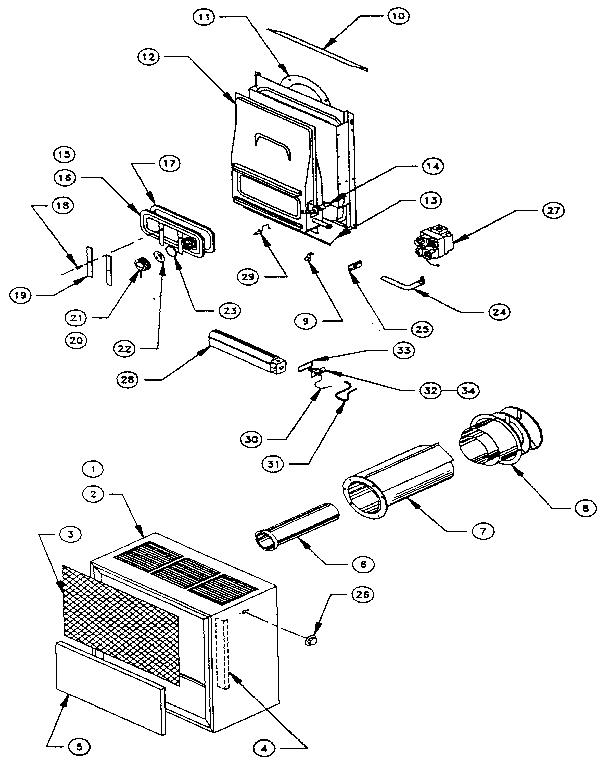 Sears model 693F357540 furnace/heater, gas genuine parts