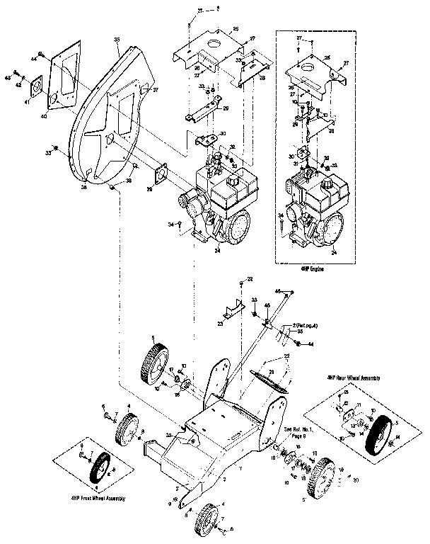 Troybilt model 47280 chipper shredder/vacuum, gas genuine