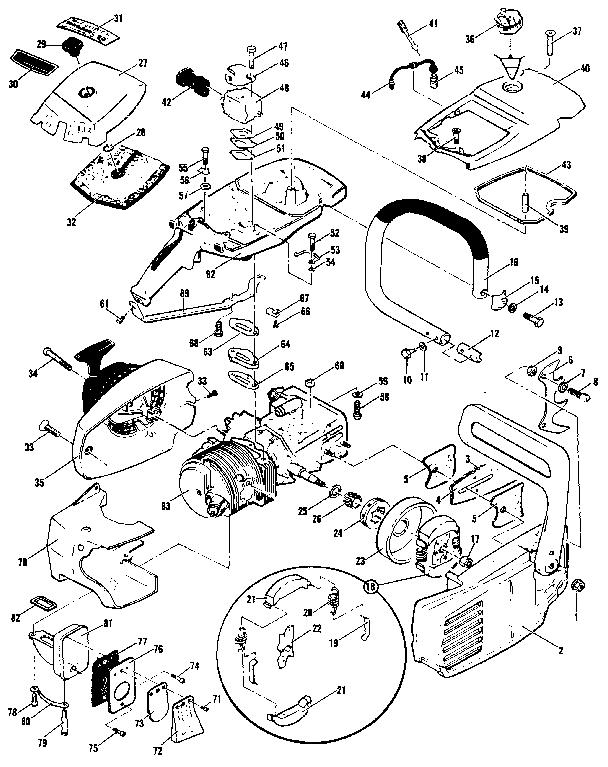 Mcculloch model PRO MAC 4300 MODEL 600116-05 chainsaw