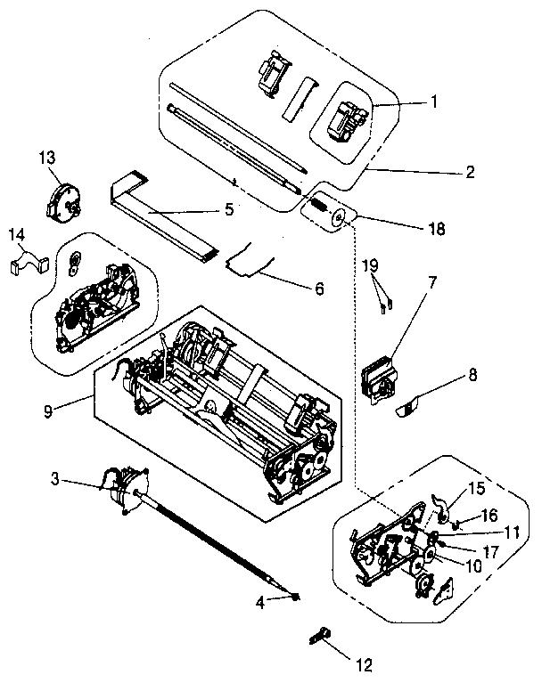 Ibm model PS/1 computer genuine parts