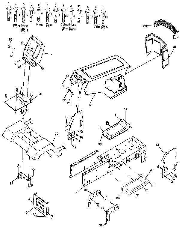 Craftsman model 917254850 lawn, tractor genuine parts