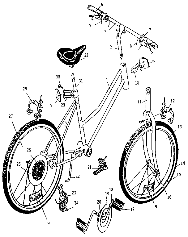 Huffy model 16619 bicycles genuine parts