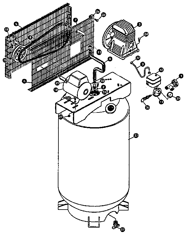 Craftsman model 919177252 air compressor genuine parts