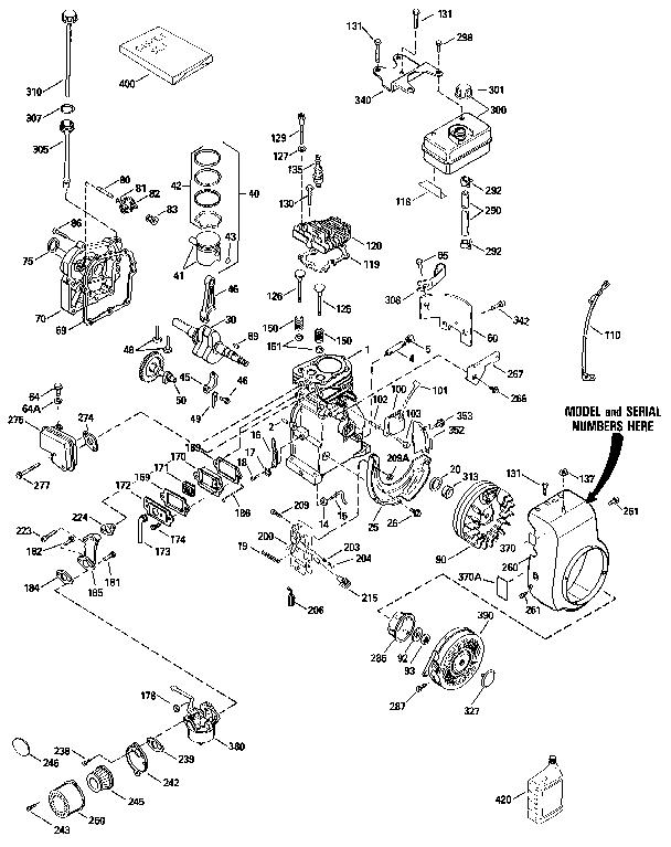 Tecumseh model HS50-67344G engine genuine parts