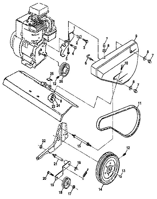 Craftsman model 917298353 front tine, gas tiller genuine parts