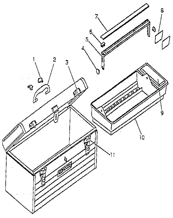 Craftsman model 650080 tool box genuine parts