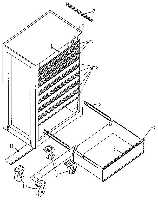 Craftsman model 65748 tool chest genuine parts