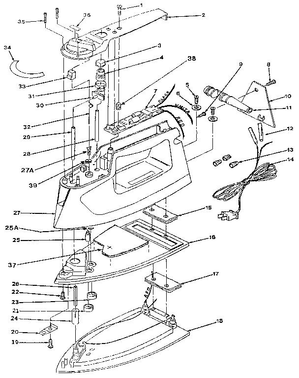 Proctor-Silex model I2703 irons genuine parts