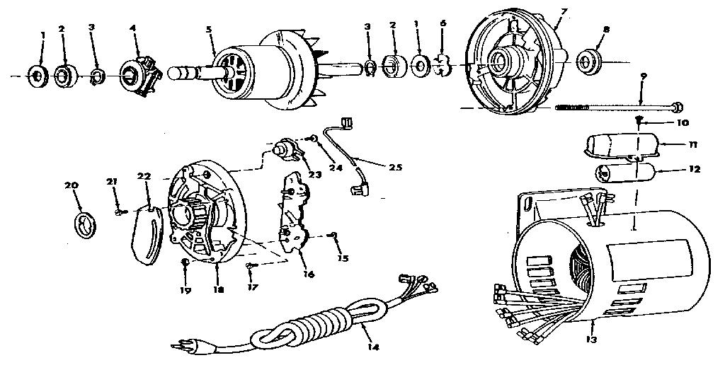 Craftsman model 62860 motor electric genuine parts