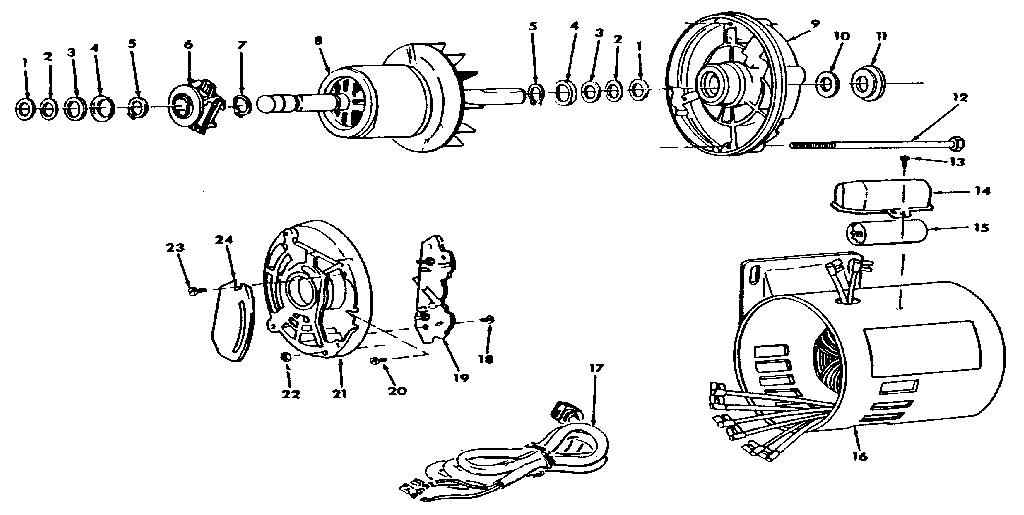 Craftsman model 62963 motor electric genuine parts