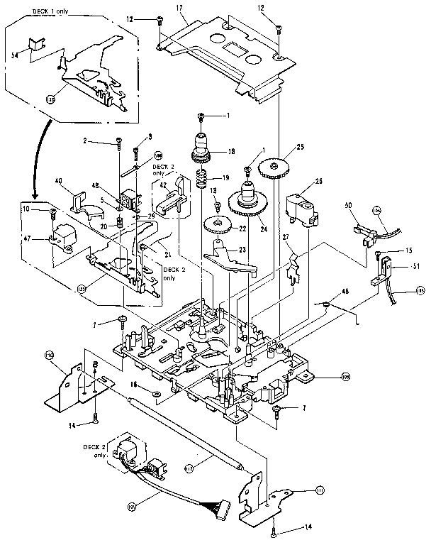 Pioneer model RX-751 tabletop systems genuine parts