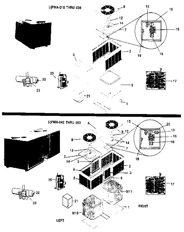 Rheem model PMA024J air-conditioner/heat pump(outside unit