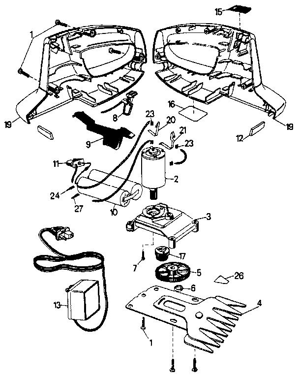Craftsman model 900796771 shear attachment genuine parts