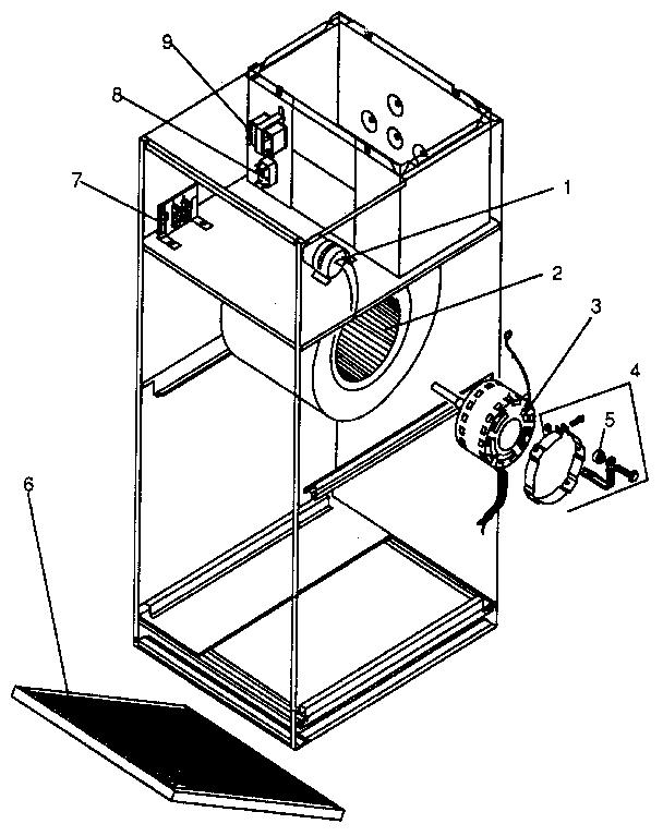 Icp model BCM036XKB2 air handler (indoor blower&evap