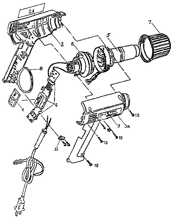 Craftsman model 129118010 heat gun genuine parts