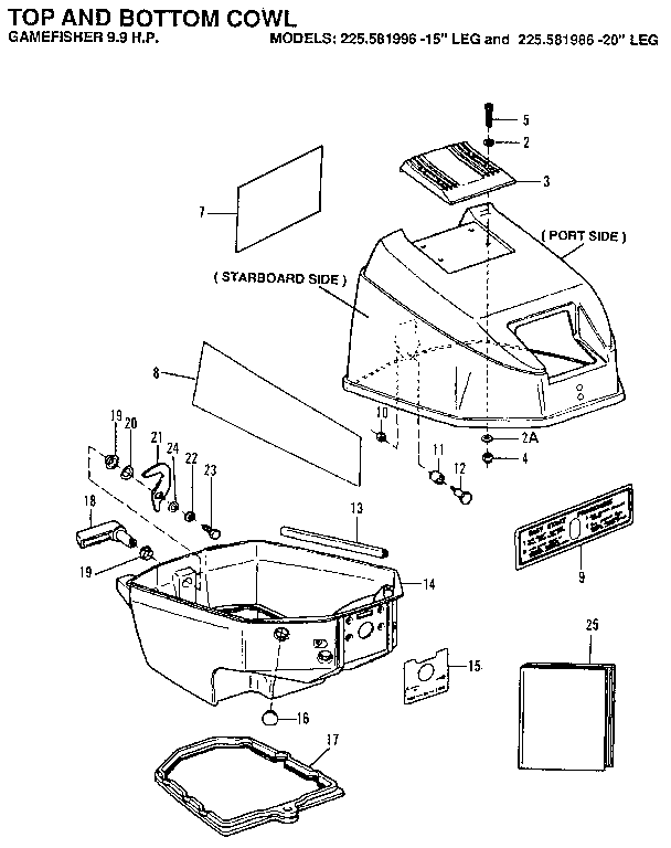 Craftsman model 225581996 boat motor gas genuine parts