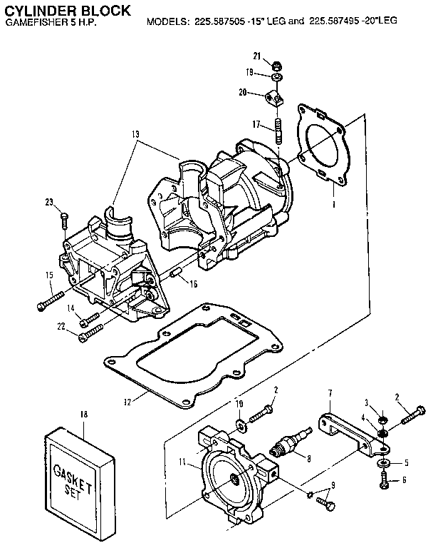 Craftsman model 225587505 boat motor gas genuine parts