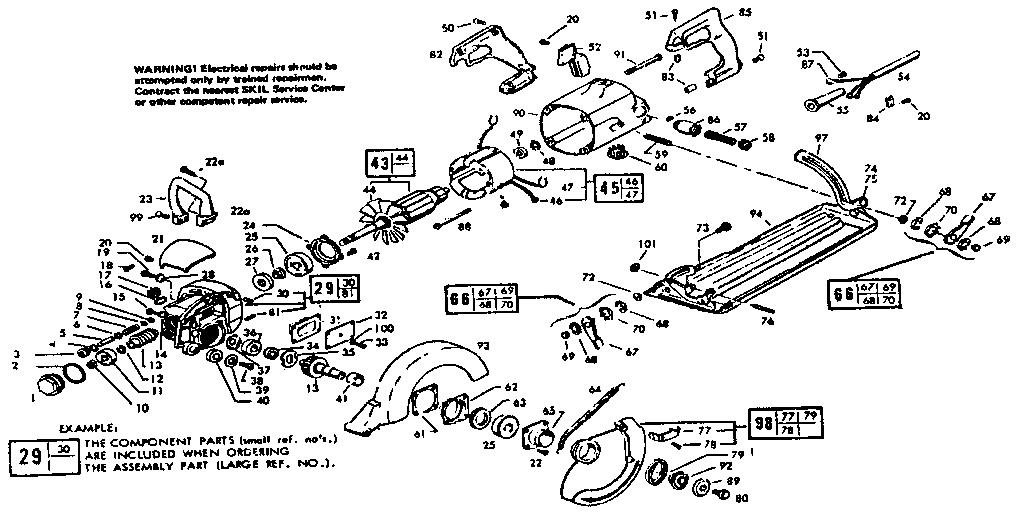 Skil model 77-TYPE15 circular saw genuine parts