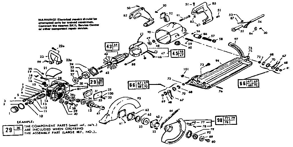 Skil model 367-TYPE7 saw circular genuine parts
