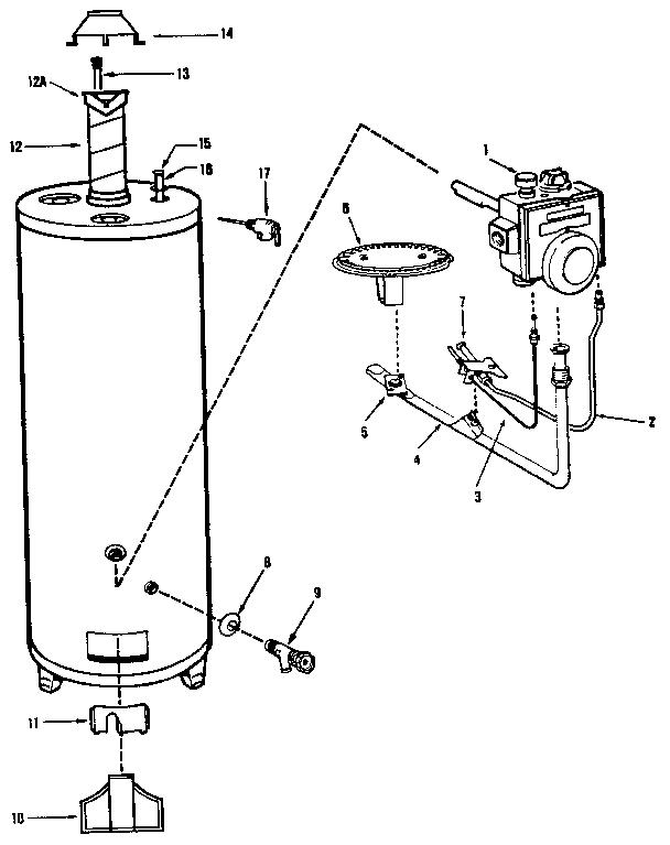 Kenmore model 3333 water heater genuine parts