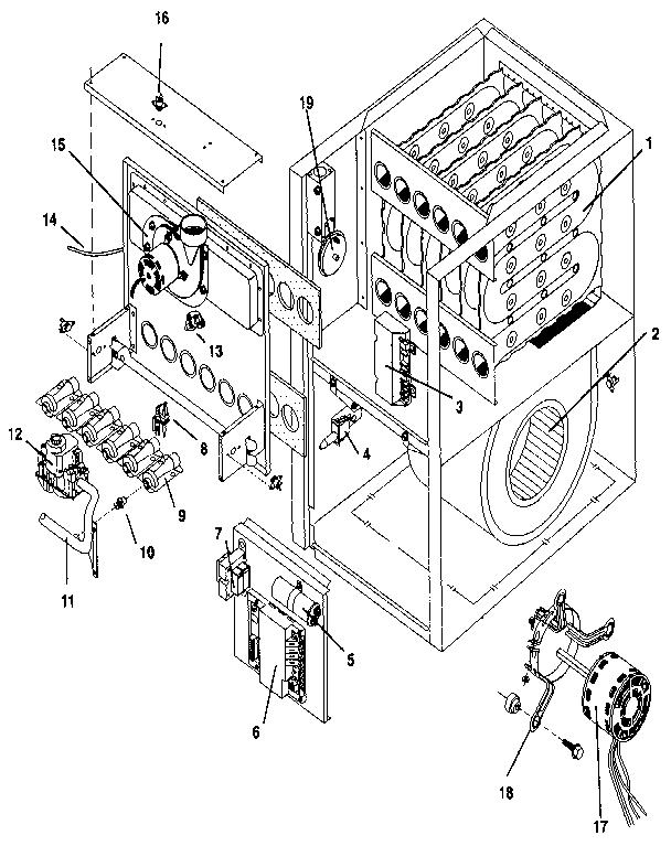 Icp model NUG5100BFB1 furnaces/heaters genuine parts