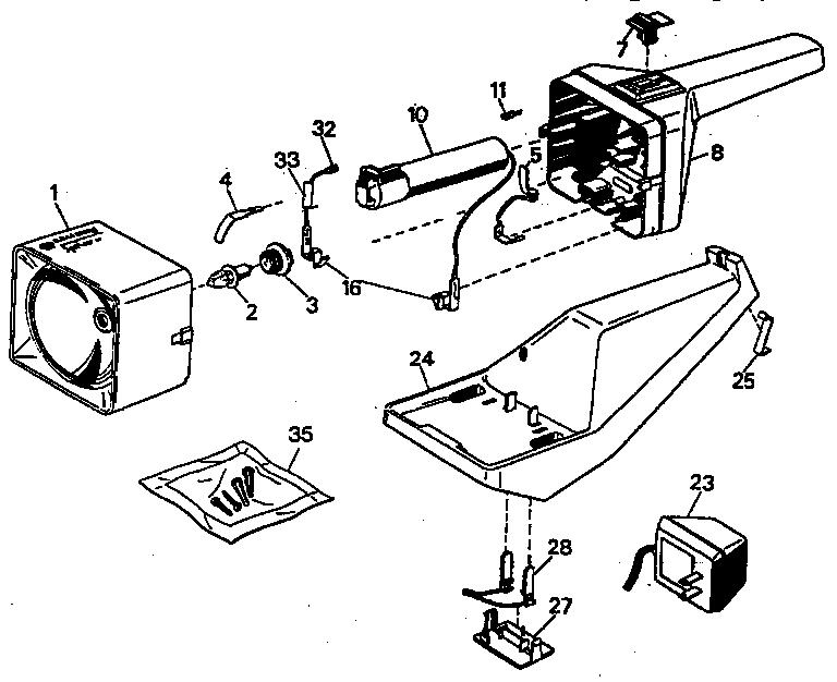 Black-Decker model 9360B flashlight genuine parts