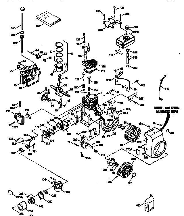 Tecumseh model HS50-67344H engine genuine parts