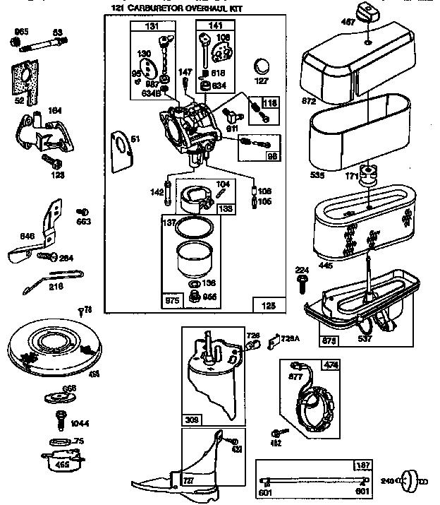 BRIGGS-STRATTON model 289707-0130-01 engine genuine parts