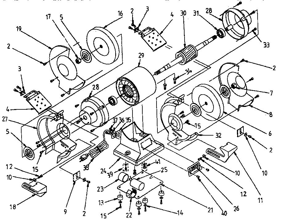 Craftsman model 319190610 grinder bench genuine parts