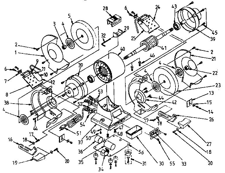 Craftsman model 319190620 grinder bench genuine parts