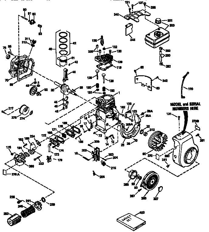 Craftsman model 143943503 engine genuine parts