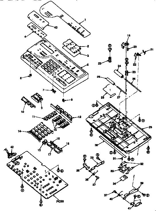 Panasonic model KX-F160 fax machines genuine parts