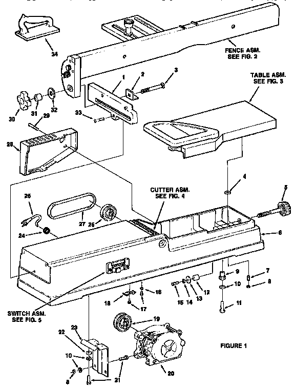Craftsman model 113232212 jointer/planer genuine parts