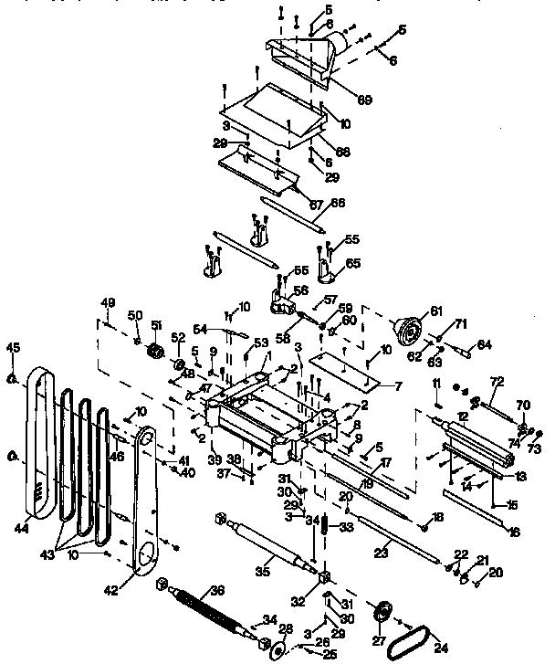 Craftsman model 35123374 planer genuine parts
