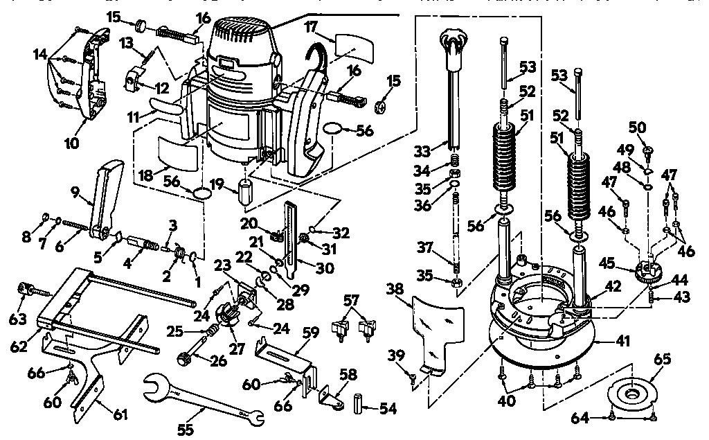 Craftsman model 315275050 router genuine parts