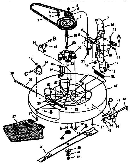Murray model 403330 mower deck genuine parts