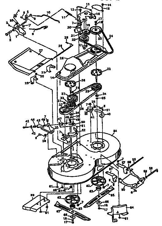 Murray model 403221 mower deck genuine parts