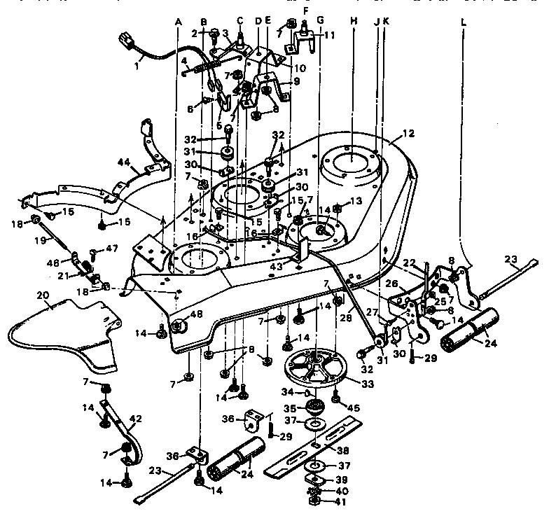 Murray model 403133 mower deck genuine parts