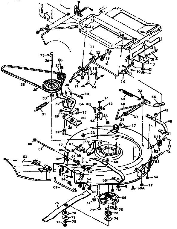 Murray model 403180 mower deck genuine parts